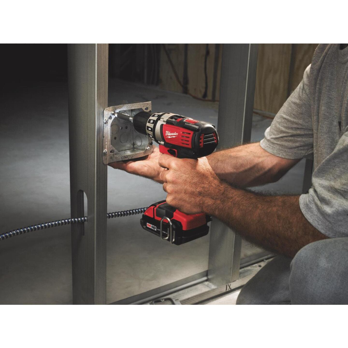Milwaukee M18 18 Volt Lithium-Ion 1/2 In. Compact Cordless Drill Kit Image 5