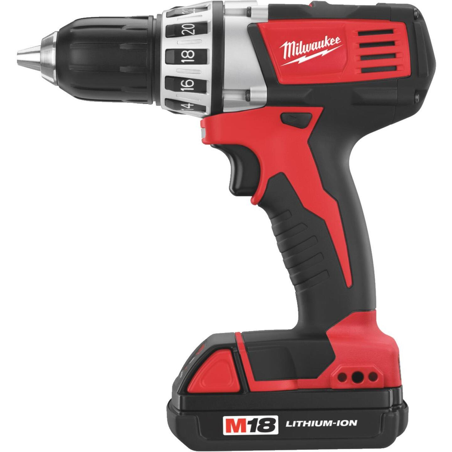 Milwaukee M18 18 Volt Lithium-Ion 1/2 In. Compact Cordless Drill Kit Image 10