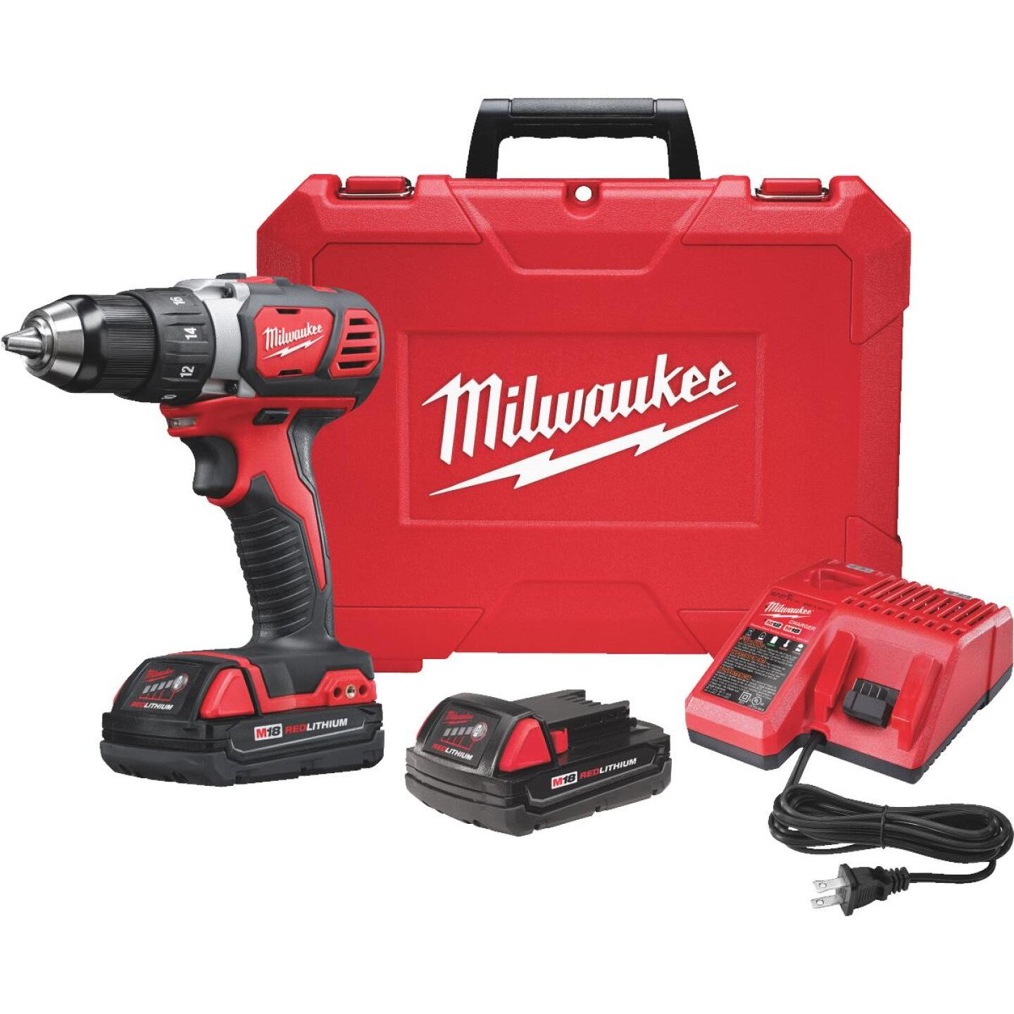 Milwaukee M18 18 Volt Lithium-Ion 1/2 In. Compact Cordless Drill Kit Image 11